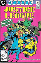 Justice League Comic Book Annual #1 DC Comics 1987 VERY FN/NEAR MINT NEW... - $3.50