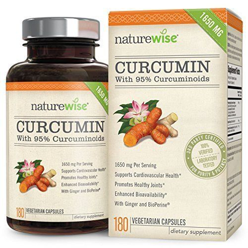 NatureWise  with 95% Curcum & BioPerine Cardiovascular & Healthy Joints Support