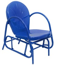 Northlight Electric Blue Retro Metal Tulip Outdoor Single Glider - $132.40