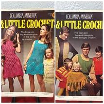 Big & Little Crochet Dress Shift Vest Poncho Pattern Men Women Columbia ... - $3.69