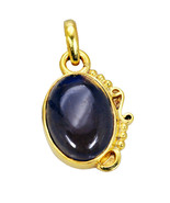 appealing Smoky Quartz Gold Plated Brown Pendant Glass jewelry US - $5.93