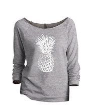 Thread Tank Pineapple Sketch Women's Slouchy 3/4 Sleeves Raglan Sweatshi... - $24.99+