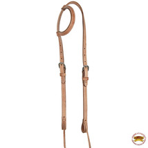 Hilason Western Horse One Ear Headstall American Leather Tan U-1-HS - $23.71