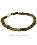 Native American Wampum 100 Carved Sandstone beads Bracelet 500 AD Rare t... - $197.10