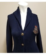 Vtg Woman's Cardigan Ralph Lauren Coat of Arms Blue Button Up Green Labe... - $169.32