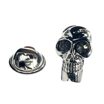 3d skull  Lapel Pin Badge Lapel /tie Pin Badge 3d effect with clip