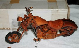 Harley Davidson handmade *WOODEN CHOPPER* Style  Motorcycle Collectible ... - $44.95