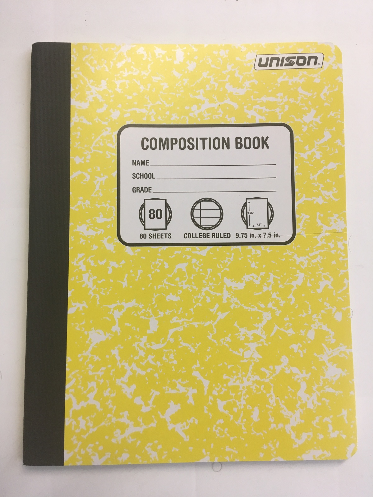 Pack of 6 Unison Composition/Notebook 80 Sheets College Ruled