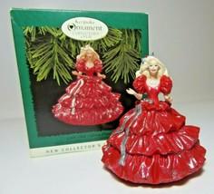 1996 Collectors Club Series Edition Hallmark Happy Holiday Barbie Orname... - $11.29