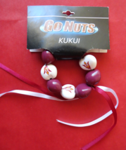 Arizona State Sun Devil Kukui Nut Good Luck Team Bracelet Maroon and White - $6.99