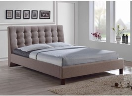 Zeller Brown Modern Bed With Upholstered Headboard - $434.61