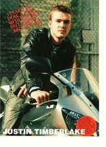 Justin Timberlake Nsync teen magazine pinup clippings 90's Motorcycle Gone - $1.50