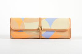 Louis Vuitton Tan Blue Orange Patent Leather Vernis Embossed Pochette Fleur Bag - $605.00