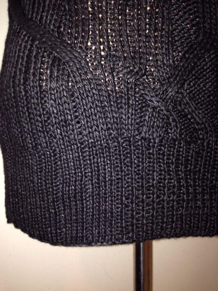 RALPH LAUREN hommes étiquette noire Tricoté à la main lin TRICOT TAILLE M
