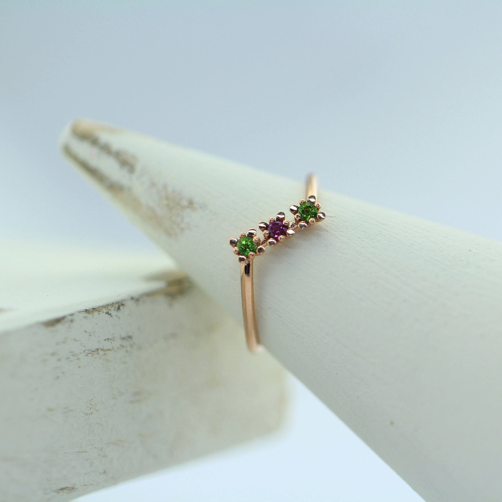 925 Sterling Silver Natural Fine Quality Garnet And Emerald Gemstone Gold Plated
