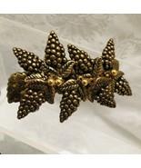 Grape Vines Hair Barrette Copper Cocooned Metal Design 4-inch Hair Decor... - $14.83