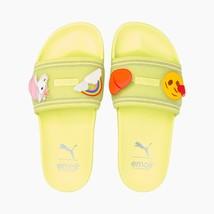 Puma x Emoji Leadcat Yellow Sunny Lime Slides Sandals - $79.97