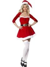 Fever Santa Nena Disfraz, Rojo, Disfraz, Navidad, Pequeño 8-10, Mujer - $29.88