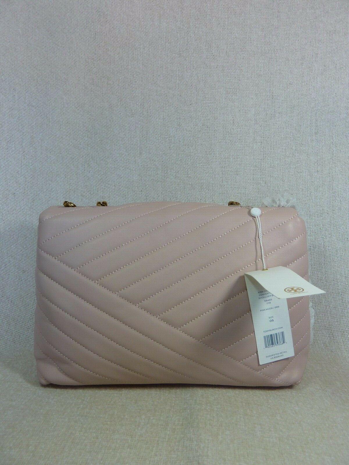 NWT Tory Burch Pink Moon Kira Chevron Convertible Shoulder Bag $528 image 7