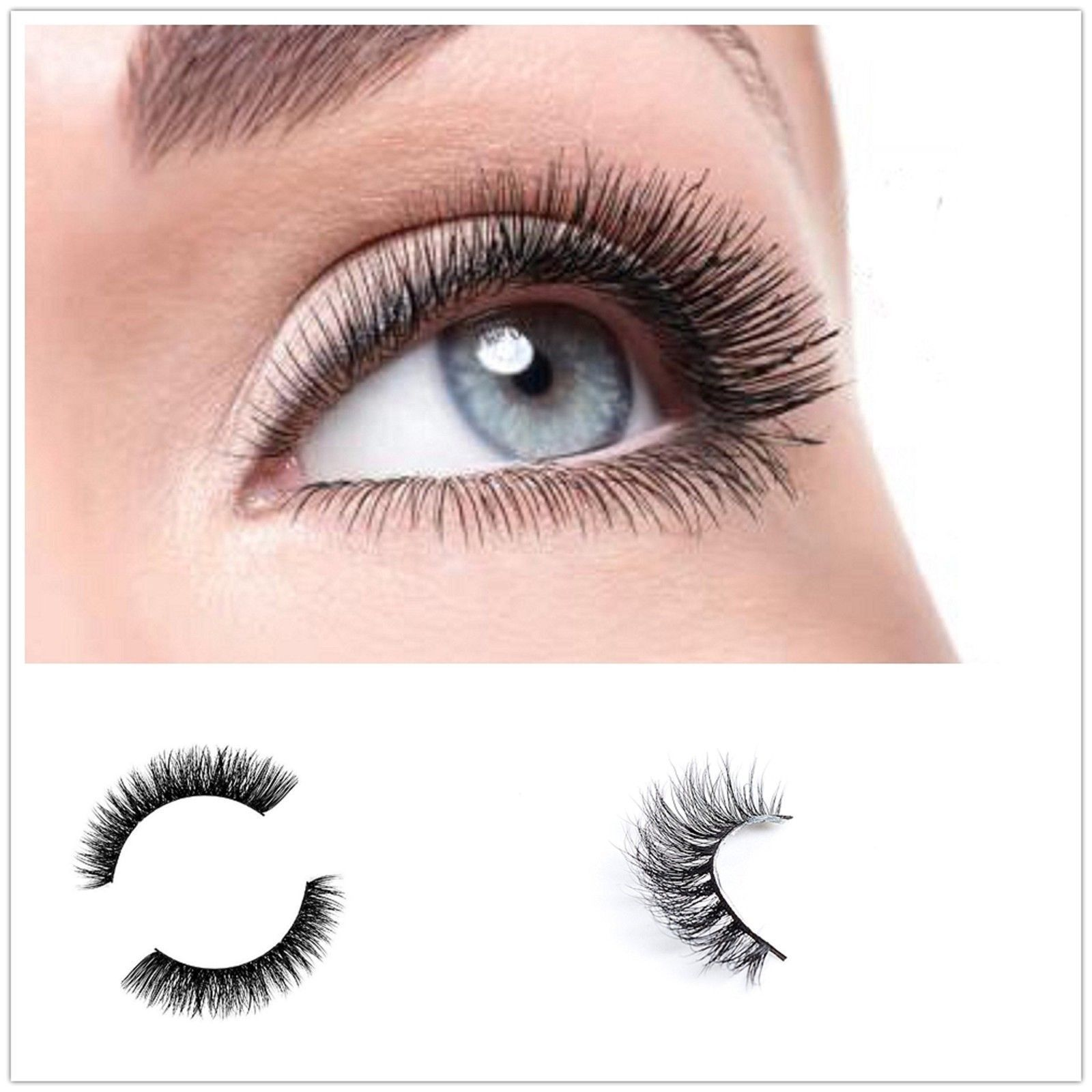 Primary image for 3D Handmade Eyelashes Super False Lashes Dramatic Cosmetic Makeup Strip Lashes T