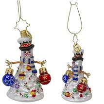 3.5-Inch Quite a Lively Tree Gem Glass Christmas Ornament - XMAS Decor 1... - $97.99