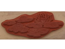 Posh Impressions 1996 Lilly Pads Wood Mounted Rubber Stamp  image 2