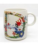 "Anthropologie Starla M Halfmann Petal Palette Monogram ""D"" 14 oz Mug Cup... - $24.74"
