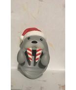Bath & Body Works RETIRED Christmas Walrus Santa Candy Cane Pocketbac Holder NWT - $16.50
