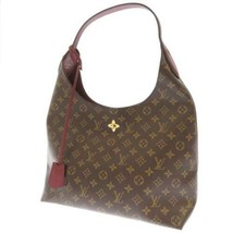 LOUIS VUITTON Flower Hobo Monogram Canvas Bordeaux M43547 Shoulder Bag A... - $1,711.90