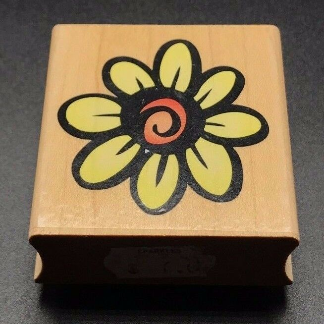 "Primary image for Hero Arts Large Daisy Design Prints E1455 Wooden Mounted Rubber Stamp 2""X2"""
