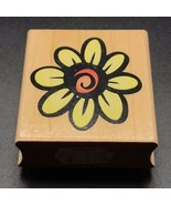 "Hero Arts Large Daisy Design Prints E1455 Wooden Mounted Rubber Stamp 2""X2"" - $6.85"