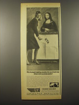 1965 UTA Airlines Ad - Why do people freighting valuables this very French - $14.99