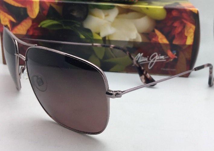 Polarized MAUI JIM Sunglasses COOK PINES MJ 774-16R Rose Gold w/ Maui Rose Fade