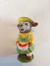 Richard Scarry 1976 Puzzletown Mrs. Goat PVC Play Figure with Stand - $9.49