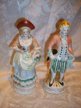 1940'S MADE IN OCCUPIED JAPAN FRENCH PROVENCIAL FIGURINES WORLD WAR II ERA - $14.84