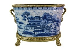 Oval Blue and White Blue Willow Rim Porcelain P... - $296.99