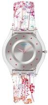 Swatch Skins Classic Jardin Fleuri Quartz Sfe102 Women's Watch - $121.50