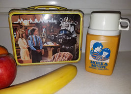 Vintage 1970s Mork and Mindy Lunchbox and Thermos Robin Williams - $99.00