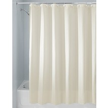 InterDesign Carlton Fabric  Shower Curtain, X-Long, 72 x 96, Natural - $29.56