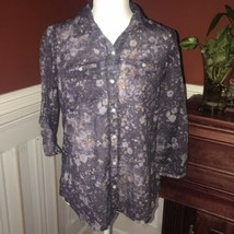 Eddie Bauer Women's Buttom Down Blouse NWT - $19.25