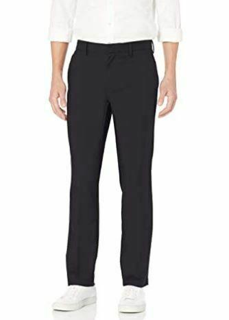 Goodthreads Men's Straight-Fit Stretch Performance Chino,, Black, Size 42W x 29L