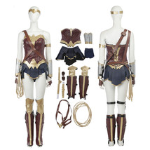 Wonder Woman Costume Justice League Cosplay Costume Dress Halloween Outfit  - $162.35