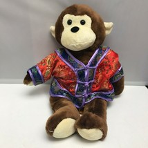 Pawsenclaws Brown Monkey Red Chinese New Year Outfit Plush Stuffed Anima... - $89.99
