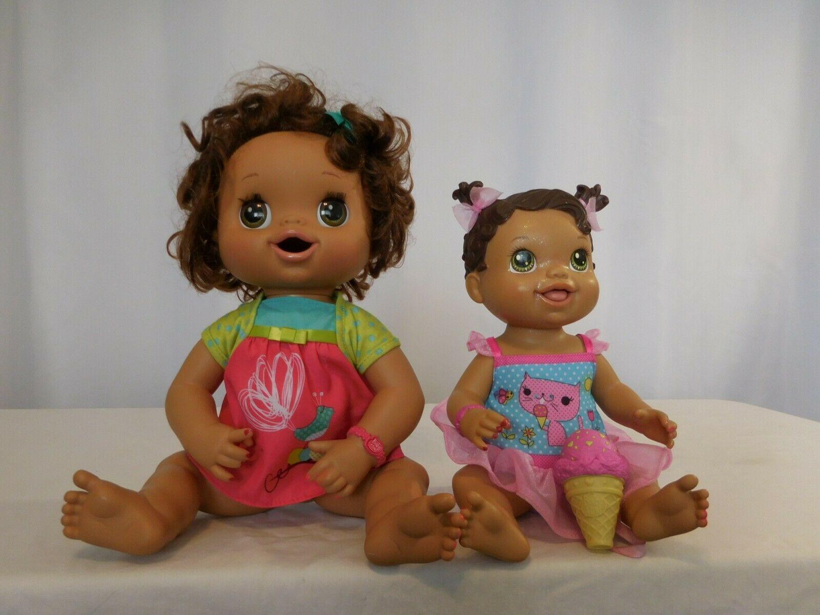 Baby Alive Hispanic Interactive Doll Eats & Poops + Yummy Treats Licks Ice Cream