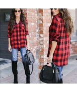 Flannel Polo Shirt Long Sleeve Tops - $38.61