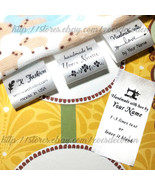 New design Custom name clothes label sew in folding hanging tag garment ... - $13.85+