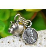 Vintage Piggy Bank Pig Penny Coin Bracelet Charm Set Sterling Silver - £12.92 GBP