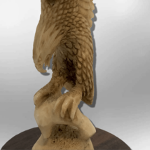 Handmade Bone Carved Full Landing Eagle Full Body No Paint Feather Detailed with image 3