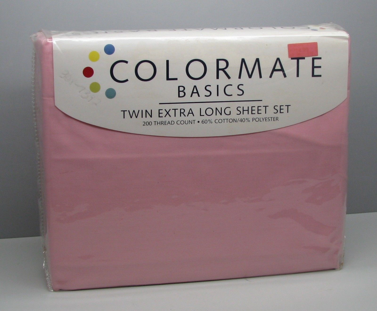 Primary image for Sears Colormate PINK Sheets Twin Extra Long New  60% Cotton 40% Polyester
