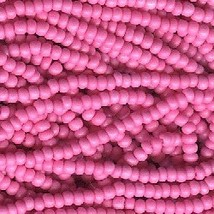 11/0 Seed Bead Rocaille Full Hank Pink 1 - $7.99